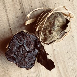 Italian Fig Ball in Vine Leaves