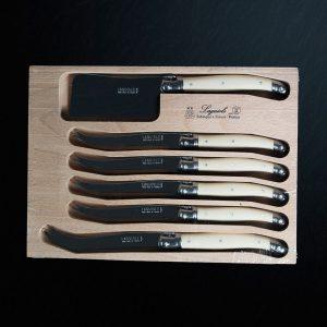 Laguiole Cream Six Piece Knife Set
